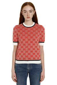 GG jacquard wool sweater, Crew neck sweaters Gucci woman