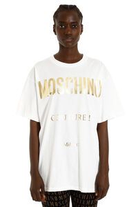 Printed cotton t-shirt, T-shirts Moschino woman