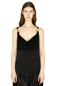 Draped-neck satin top, Tanks and Camis Versace woman
