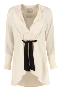 Blusa in twill di viscosa, Blouse L'Autre Chose woman