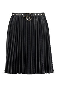Faux leather pleated mini skirt, Mini skirts Elisabetta Franchi woman