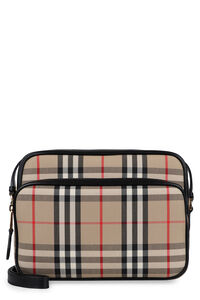 Camera bag in canvas check, Borsa a tracolla Burberry woman