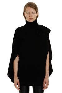 Knitted wool cape, Turtleneck sweaters Red Valentino woman