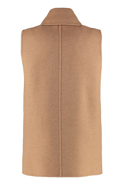 Camel-wool double-breasted waistcoat