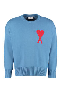 Cotton blend crew-neck sweater, Crew necks sweaters AMI man