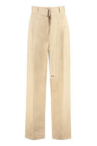 High-waist wide-leg trousers, Wide leg pants MSGM woman