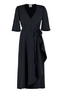 Crepe wrap-dress, Midi dresses L'Autre Chose woman