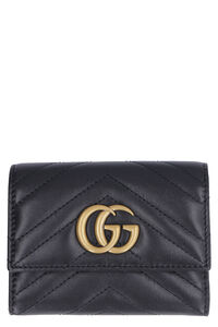 Marmont quilted leather wallet GG, Wallets Gucci woman