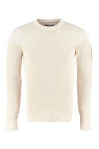 Ribbed knit pullover, Crew necks sweaters Stone Island man