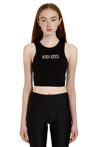 Logo cotton crop-top, Crop tops Kenzo woman
