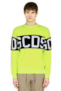 Intarsia crew-neck sweater, Crew necks sweaters GCDS man