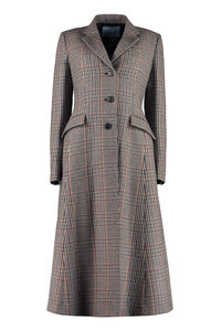 Houndstooth coat, Long Lenght Coats Prada woman