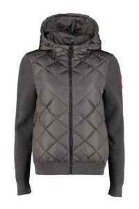 Hybridge knitted full zip hoodie, Casual Jackets Canada Goose woman