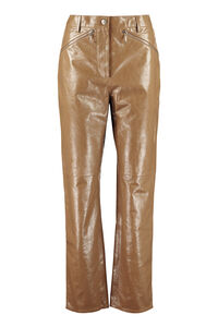 Leather pants, Straight Leg pants ALEXACHUNG woman