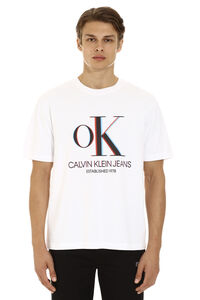 T-shirt in cotone con stampa 3D, T-shirt manica corta CALVIN KLEIN JEANS EST. 1978 man