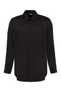 Silk jacquard shirt, Plain Shirts Saint Laurent man