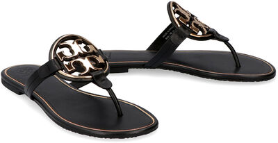Miller leather thong-sandals