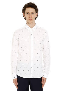 Slim-fit cotton shirt, Printed Shirts Kenzo man