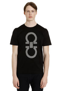 Cotton t-shirt with logo, Short sleeve t-shirts Salvatore Ferragamo man