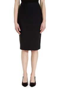 Stretch pencil skirt with zip, Pencil skirts GCDS woman