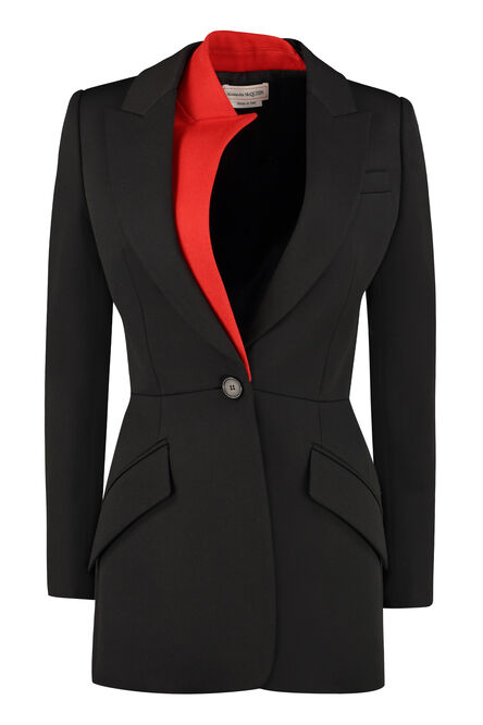 Stretch virgin wool blazer, Blazers Alexander McQueen woman