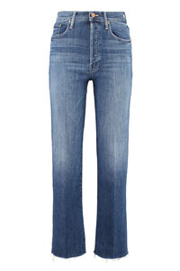 Jeans 5 tasche The Rambler Ankle Fray, Jeans straight Mother woman