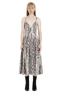 Python print faux leather dress, Printed dresses MSGM woman