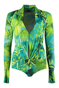 Blusa-body in jersey stampato, Blouse Versace woman