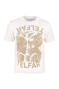Printed cotton T-shirt, T-shirts Telfar woman