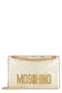 Laminated leather shoulder bag, Shoulderbag Moschino woman