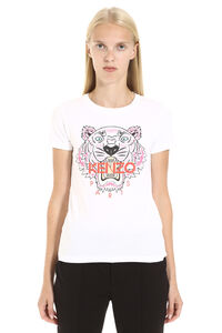 Passion Flower crew-neck cotton T-shirt, T-shirts Kenzo woman