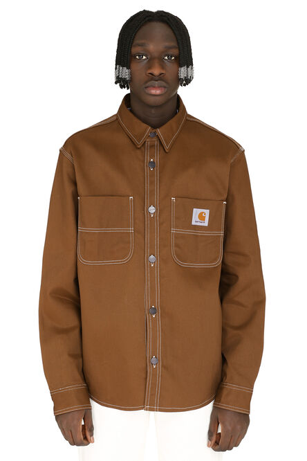 Chalk cotton twill overshirt, Denim jackets Carhartt man
