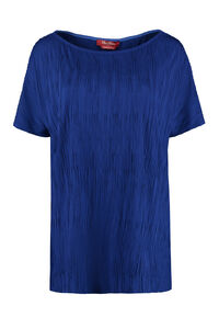 Violet pleated jersey blouse, Blouses Max Mara Studio woman