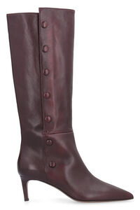 Thigh-length leather hose boots, Heeled Boots L'Autre Chose woman