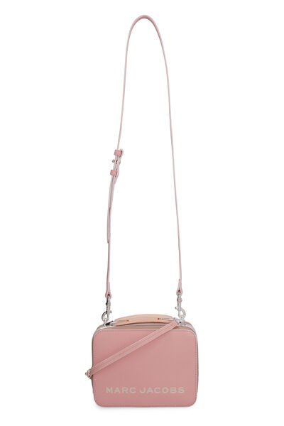 The Box Bag three-colors leather shoulder bag