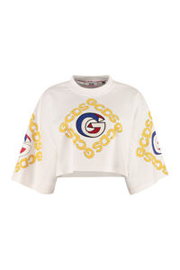 Cotton crew-neck T-shirt, Crop tops GCDS woman