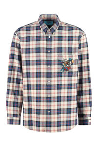 Checked shirt with embroidery - Disney x Gucci, Checked Shirts Gucci man