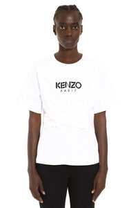 T-shirt girocollo in cotone, T-shirt Kenzo woman