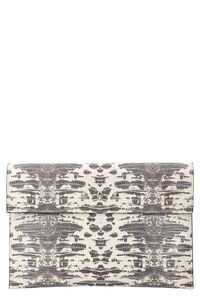 Envelope printed leather flat pouch, Clutch Alexander McQueen woman
