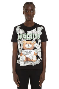 T-shirt with front print, T-shirts Moschino woman