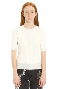 Gallese knitted viscosa-blend top, Crew neck sweaters Pinko woman