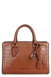 Zoe crocodile print leather handbag, Top handle MICHAEL MICHAEL KORS woman