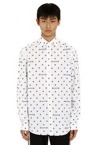 Star and logo print cotton shirt, Printed Shirts Gucci man