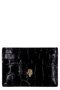 Leather card holder, Wallets Alexander McQueen woman
