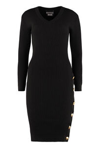 Knitted sheath dress, Knee Lenght Dresses Boutique Moschino woman