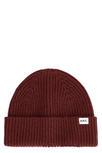 Ribbed knit wool beanie hat, Hats A.P.C. woman