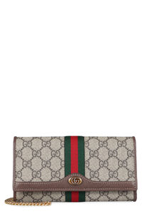 Ophidia GG supreme fabric wallet on chain, Clutch Gucci woman