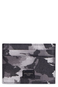 Printed leather card holder, Wallets Dolce & Gabbana man