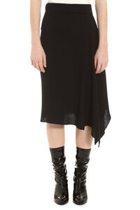 Masterpiece ribbed knit skirt, Asymmetric skirts Pinko woman