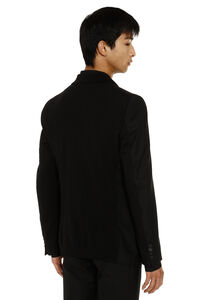 Wool-mohair blend single-breasted jacket